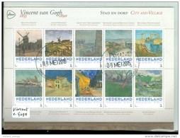 NEDERLAND *  VINCENT VAN GOGH * STAD EN DORP  * BLOK * BLOC * BLOCK * NETHERLANDS * GEBRUIKT - Periode 2013-... (Willem-Alexander)