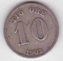 10 Öre Münze Aus Schweden (sehr Schön Bis Vorzüglich) 1902 Silber - Schweden