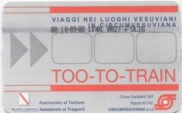 Ticket Train : Circuit Mont Vesuvius, Italie : 10/09/08 - Railway