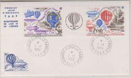 TAAF 1984 Bicentenaire De L'Air Et De L'Espace / Balloons 2v +label FDC Ca Dumont D'Urville Terre Adelie (38455) - FDC