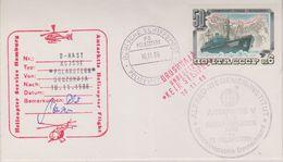 Russia 1986 Heliflight From Polarstern To Base Druzhnaja 10.11.86 Cover Si Pilot(38456) - Poolvluchten