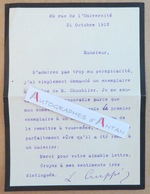 L.T.S 1912 Louise CRUPPI Ecrivain Membre Jury Femina - épouse De Jean (député) Née CREMIEUX Choublier Lettre Autographe - Autographs
