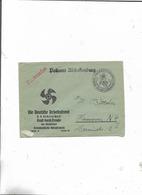 Brief Von Aschaffenburg  Deutsche Arbeitsfront Kreisverwaltung Nach Hannover  1939! - Deutschland