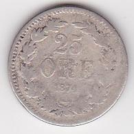25 Öre Münze Aus Schweden (schön) 1874 Silber - Schweden