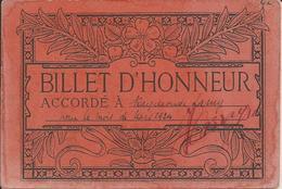 BILLET D'HONNEUR - A L'élève Raymonde LAMY - Mars 1924 - Ecole - Petit Prix - A Voir ! - Diploma & School Reports