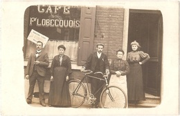 Belgique - FLOBECQ (Vloesberg) - CARTE-PHOTO Gros Plan Devanture CAFÉ FLOBECQUOIS - Flobecq - Vloesberg