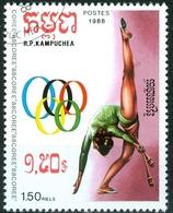 CAMBOGIA, CAMBODIA, SPORT, GIOCHI OLIMPICI, 1988, FRANCOBOLLI USATI  Michel 926…Scott 848 - Cambogia
