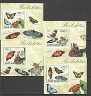 O998 2009 GUINE-BISSAU FAUNA BUTTERFLIES BORBOLETAS 4 LUX BL MNH - Schmetterlinge