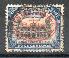 PERU' 1913 - Istituto Municipale D'igiene. Sovrascritto.  8c. Su 12c.(R) Usato - Scott. 186-A35 - Peru