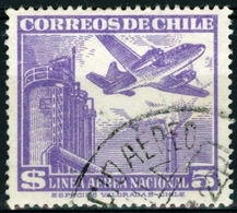 CILE, CHILE, POSTA AEREA, AIRMAIL, 1951, FRANCOBOLLI USATI Yvert Tellier PA147   Scott C162 - Chile