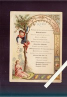 Menu Humoristique - Chromolitho Circa1900 - Gigot De Puce, Rognons De Mouches, Gratin D'yeux De Fourmis... - Menus