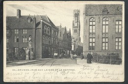 +++ CPA - BRUGGE  BRUGES - Rue Aux Laines Et Le Beffroi   // - Brugge