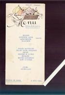 Menu - SDANDLML Saint Jean De Monts - 8 Juin 1953 - Menus