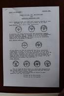 CLASSIFICTION  DES  OBLITERATIONS  DES  COURRIERS  CONVOYEURS        3   PAGES            2  PHOTOS - Matasellos