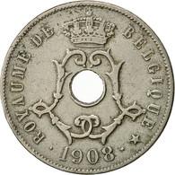 Monnaie, Belgique, 25 Centimes, 1908, TTB+, Copper-nickel, KM:62 - 1865-1909: Leopold II