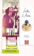 """2 Marque-pages  Parfum """"Lettre à Anna"""" Le Monde Du Parfum Et Moment De Bonheur D'Yves Rocher - - Bookmarks"""