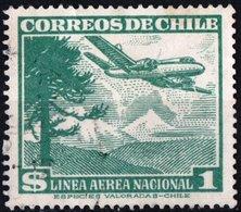 CILE, CHILE, POSTA AEREA, AIRMAIL, AEREI, 1950, FRANCOBOLLI USATI YT PA131    Scott C138 - Chile