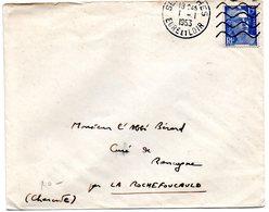 EURE Et LOIR - Dépt N° 28 = SENONCHES 1953 = FLAMME DAGUIN Muette '5 Lignes Ondulées' - Postmark Collection (Covers)