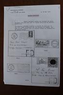 FAUSSE  DIRECTION       6   PAGES            4 PHOTOS - Oblitérations