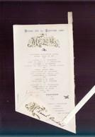 Menu - Diner 14 Janvier 1903 - Gaufrage - Menus