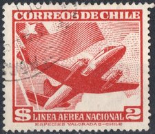 CILE, CHILE, POSTA AEREA, AIRMAIL, AEREI, 1950, FRANCOBOLLI USATI YT PA132    Scott C159 - Chile