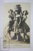 Antique  Photographic Postcard Les Hatcaps - British Acrobatic Dancers - Edited A. Delbosq, Berlin - Baile
