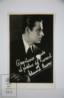 Antique  Photographic Postcard Actor Edmund Burns - 1920´s - Artistas