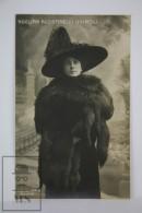 Antique Photographic Postcard Italian Actress Adelina Agostinelli Quiroli - Edited Comerio Milano - Early 1900´s - Artistas