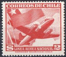 CILE, CHILE, POSTA AEREA, AIRMAIL, AEREI, 1950, FRANCOBOLLI NUOVI (MLH*) YT PA132    Scott C159 - Chile