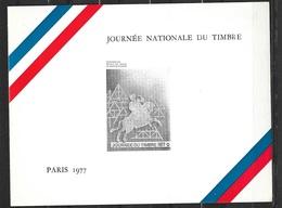 Encart Journée Du Timbre 1977  1er Jour FDC Du 1927 Journée Du Timbre Paris Le 26/03/1977 Carte Maxi Et Lettre   TB - Variedades Y Curiosidades