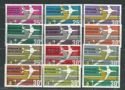 Grandes Séries Pays D'expression Française : Mise En Service Du DC-F, Les 12  Valeurs Sans Charnière,TB - Stamps