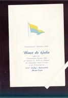 Menu - Diner Offert Par L'international Sporting Club Pour Les Concurents Du XXXè Rallye Automobile Monte Carlo - 1961 - Menus