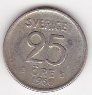 25 Öre Münze Aus Schweden (sehr Schön) 1960 Silber - Schweden