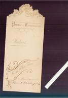 Menu - Premiere Communion  De Aubert - Le 12 Juin 1905 - Double Pages - Menus
