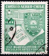 CILE, CHILE, POSTA AEREA, AIRMAIL, COMMEMORATIVO, ARTE, ARTIGIANATO, 1949, USATI YT PA124    Scott C127 - Chile