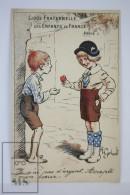 """Llustrated Postcard """"Ligue Fraternelle Des Enfants De France"""" - Ilustrated Gerbault - Ed. Breger & Javal - WWI - Otros"""