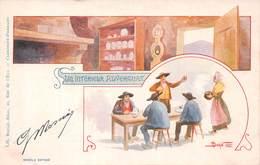 Un Intérieur Auvergnat (63) - Illustration Douhin - France