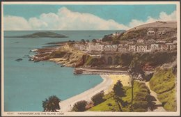 Hannafore And The Island, Looe, Cornwall, 1955 - Harvey Barton Postcard - England
