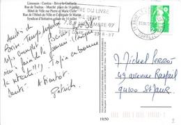 CORREZE 19  - BRIVE LA GAILLARDE   - FLAMME - DESCRIPTION -  1997  - THEME FOIRE DU LIVRE - Postmark Collection (Covers)