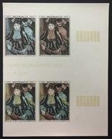 MONACO N° 967 RENOIR Peinture Art Non Dentelé Essai Imperf Color Proof ! Bloc De 4 ! Cdf ! Superbe ** ! - Monaco