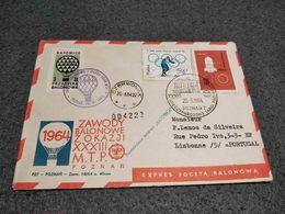 POLAND BALLOON CHAMPIONSHIPS FOR 33RD POZNAN INTERNATIONAL TRADE FAIR  X2 COVER 1964 - Poste Aérienne