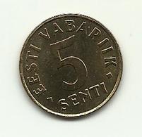 1991 - Estonia 5 Senti, - Estonia
