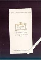 Menu - Vertou - Propriété La Ville Bachelier - 8 Janvier 1944 (avec Muscadet De La Ville Bachelier !) - Menus