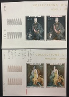 MONACO N° 1286/87 Princes Par SLANIA Non Dentelé Essai Imperf Color Proof ! Paires ! Bdf Et Cdf ! Superbe ** ! - Monaco