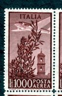 ITALIA - Posta Aerea - 145 - 1948 - CAMPIDOGLIO LIRE 1000 - Filigrana Ruota - Poste Aérienne