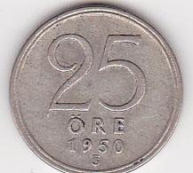 25 Öre Münze Aus Schweden (sehr Schön) 1950 Silber - Schweden
