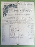 43 ,brioude....facture... Distillerie Brivardoise Fénélon Blanchard ... ...dim..27 Cm Par 21 Cm... - Brioude
