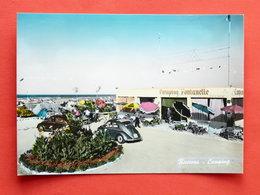 Cartolina Riccione - Camping - 1957 - Rimini
