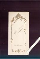 Menu - Sauwen Jehotte -  14 Mai 1905 - Gaufrage Or - Menus