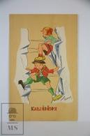 "Illustrated Postcard ""Alpinisme"" Infants Climbing Mountain - Bernet - - Ilustradores & Fotógrafos"